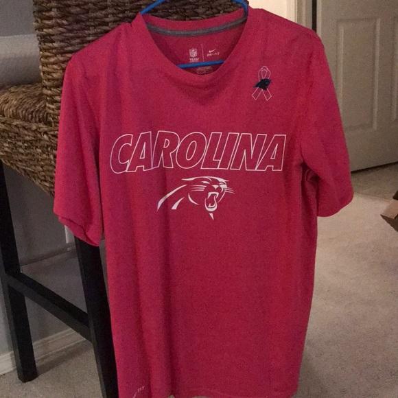 huge discount a21a5 5f9c7 Men's Medium Carolina Panthers Breast cancer tee